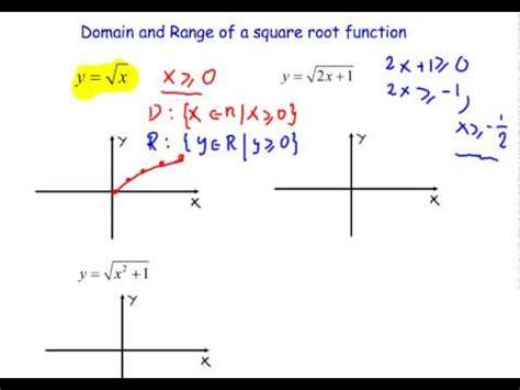 domain  range   square root functionmov youtube