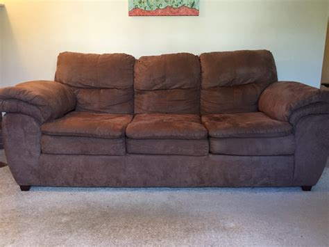 will couch dark brown microfiber sofa abson living monrovia sectional