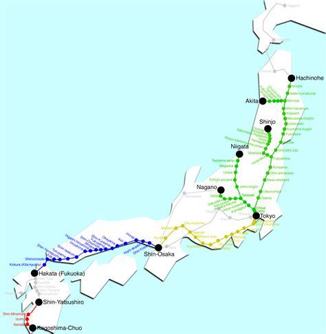 shinkansen map japan rail pass go japan go