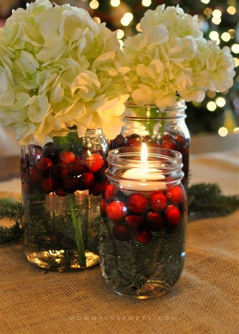 mason jars  perfect     holiday centerpiece