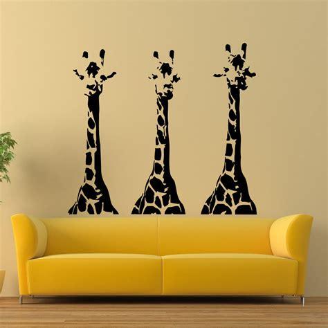 wall sticker decor wall vinyl decals giraffe animals jungle safari decal
