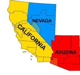 map of california nevada and arizona deboomfotografie