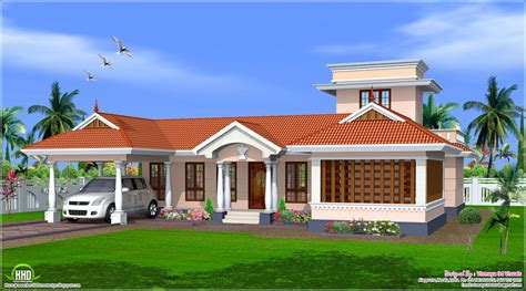 single home plans style single floor house design kerala home plans