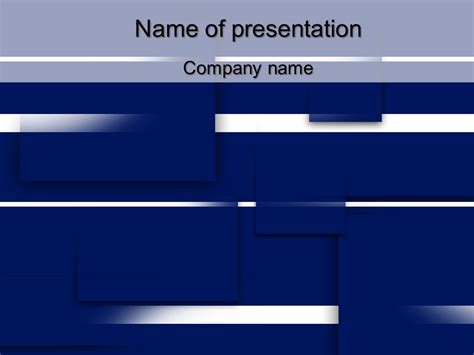 squares powerpoint template free blue squares powerpoint template for your