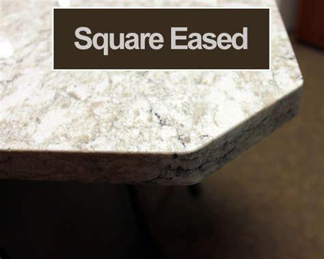 eased edge granite edge profiles mettes custom countertops