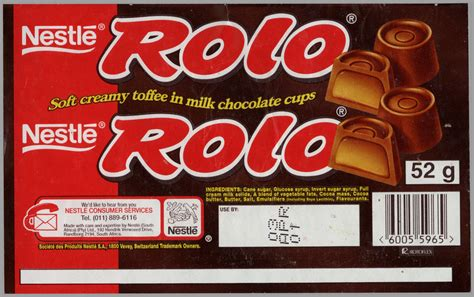 south africa nestle rolo chocolate candy wrapper
