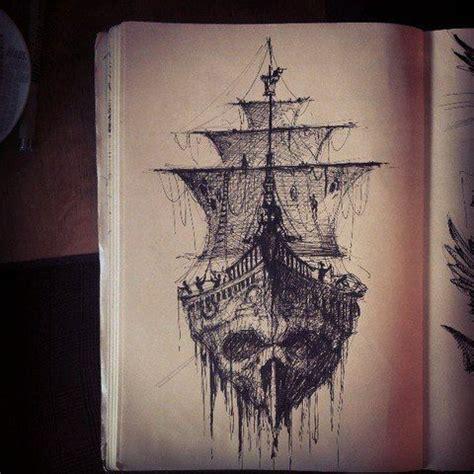 ship skull nautical tattoo ideas pinterest skulls  ships