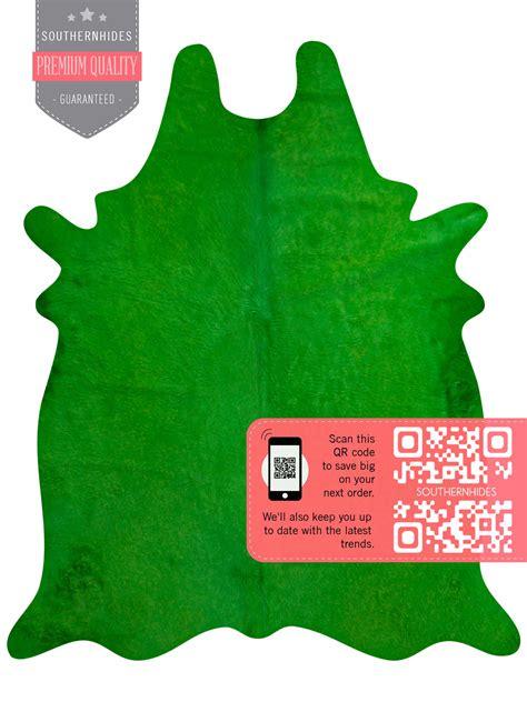 green cowhide rug green cowhide rug no green makes us feel