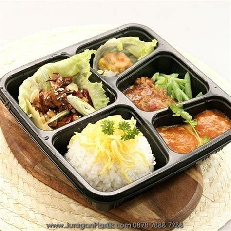 Bento 4 Sekat Lunch Box lunch box bento microwave freezer 5 sekat hitam