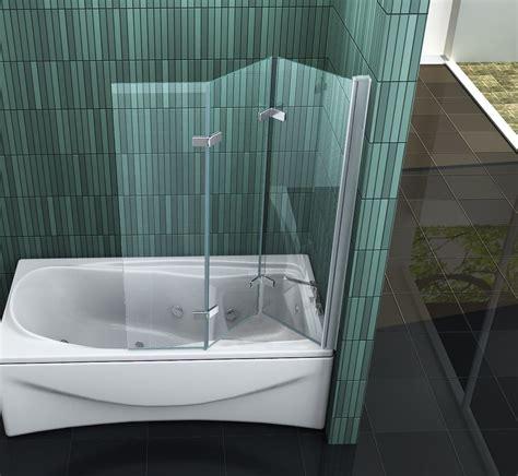duschtrennwand badewanne glas vario 130 x 140 badewannen faltwand duschwand