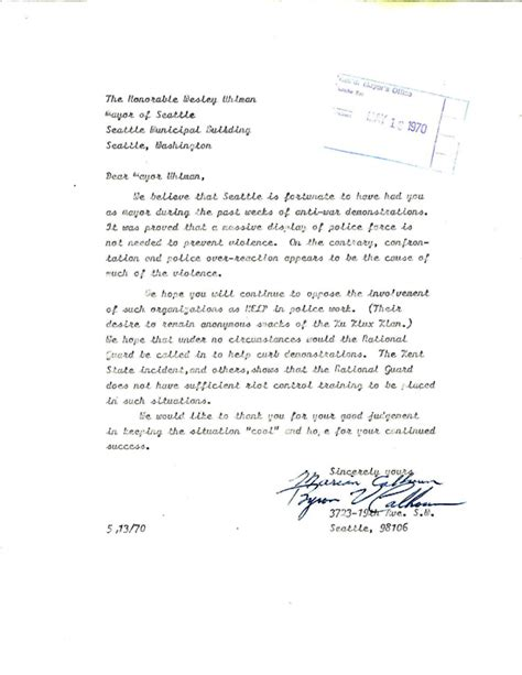 Letter Of Recommendation Kent State 2008 find of the month archive cityarchives seattle gov