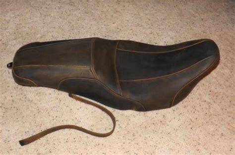 distressed brown leather motorcycle seat new badlander distressed brown touring seat harley