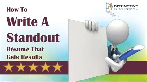 how to write a standout resume how to write a standout resume that gets results