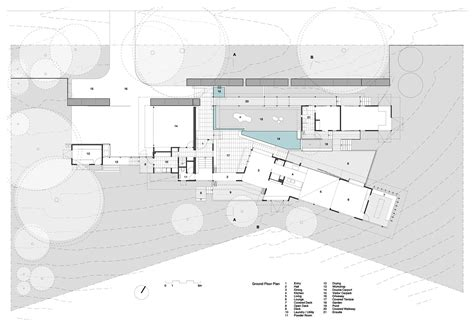ground plan of a house glass house mountains house bark design architects archdaily