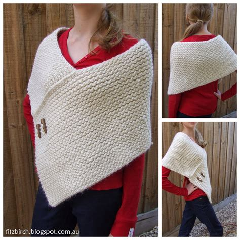 knit wrap fitzbirch crafts loom knit wrap