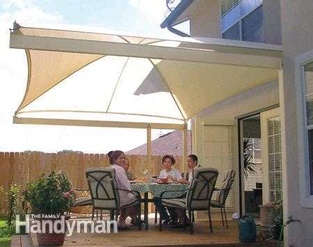 deck tarp awning how to shade your deck or patio the family handyman