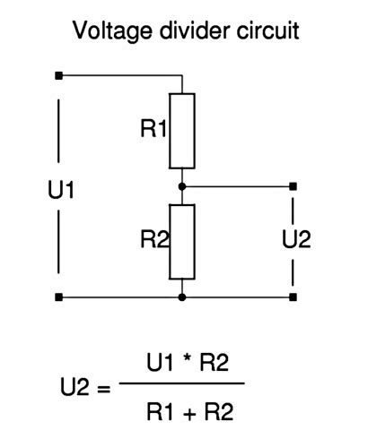 calculate voltage divider