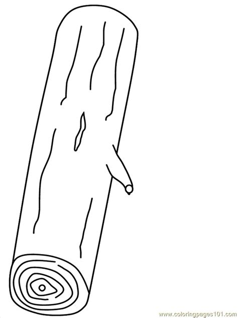 Coloring Log Coloring Page Free Trees Coloring Pages Coloring Page Of A