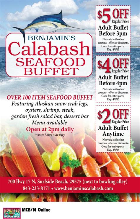 Pin By Myrtle Beach Resorts On Coupons For Myrtle Beach Seafood Buffet Coupon
