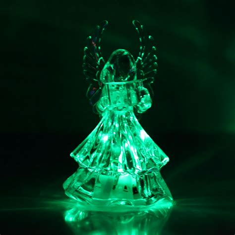 color changing night light 07s8 7 colors changing crystal led christmas angel