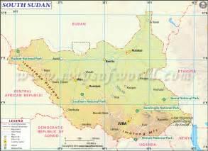 south map south sudan map map of south sudan