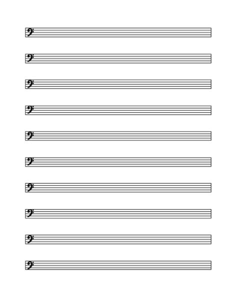 Musical Staff Lines Only On Flash Cards Template by Blank And General Office