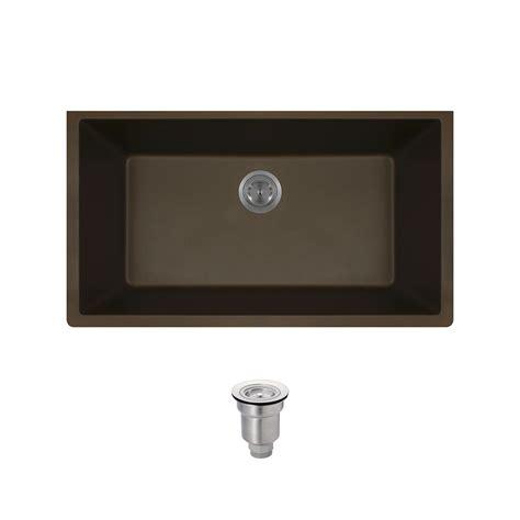 Black Composite Kitchen Sink Mr Direct Undermount Composite 32 5 8 In Single Bowl Kitchen Sink In Black 848 Black The Home