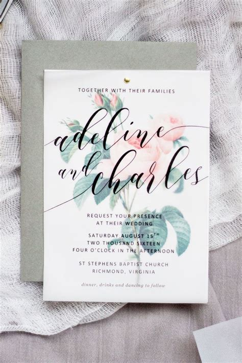 Make your own beautiful floral wedding invitations with