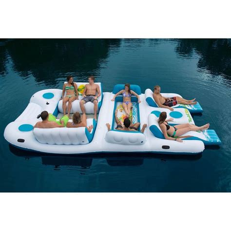 large inflatable boat giant 8 person inflatable raft pool ocean large floating