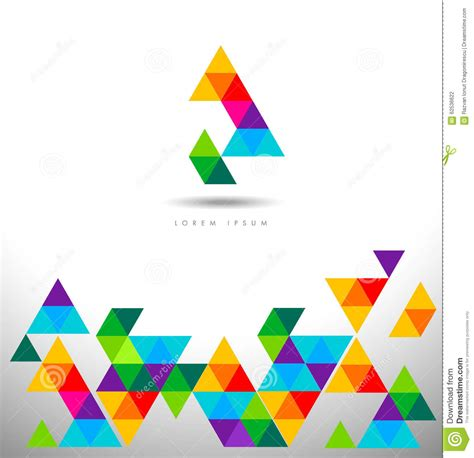 pattern logo triangles logo pattern stock vector image 62536622