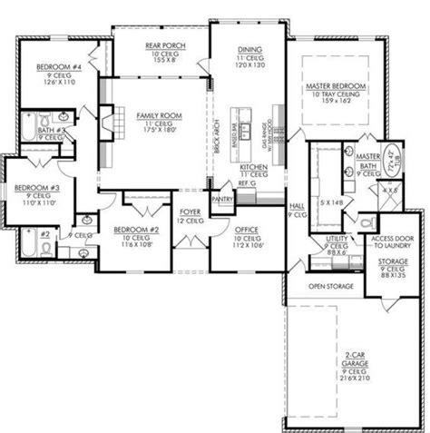 half bath plans 653665 4 bedroom 3 bath and an office or playroom