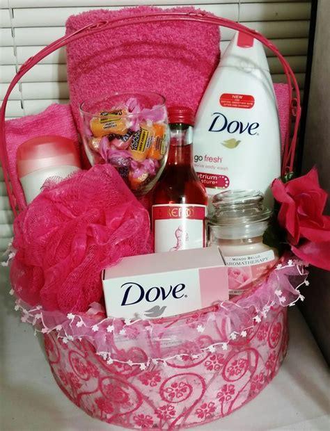 dove bath basket pomegranate and lemon verbena gift