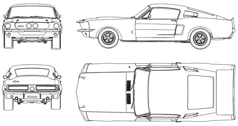 500 Sketches Pdf by Car Blueprints Ford Mustang Shelby Gt500 Blueprints