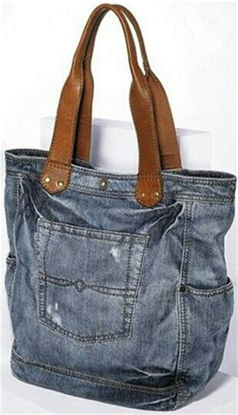 Tas Boxy Ribbon recycled denim denim bag and hobo purses on