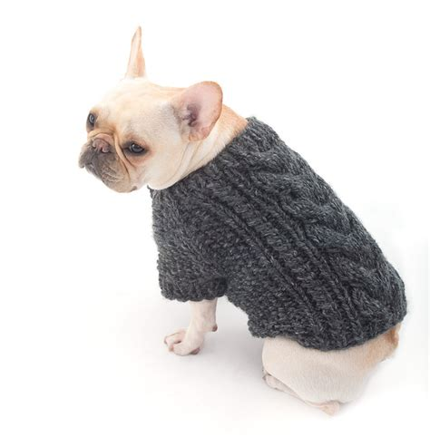 wool pattern for dog coat cabled dog cardigan in lion brand wool ease thick quick