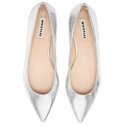 silver flat pointed shoes whistles mettalic silver pointed flat shoes accessories