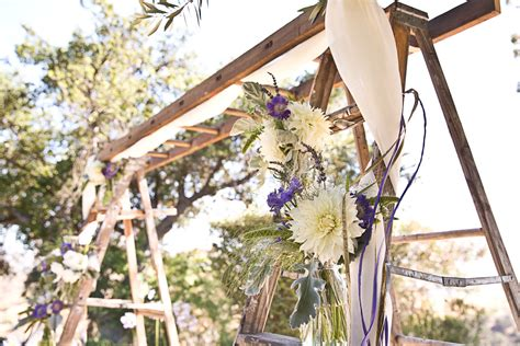 Wedding Ceremony Arbor by Vintage Wood Ladder Wedding Ceremony Arbor Onewed