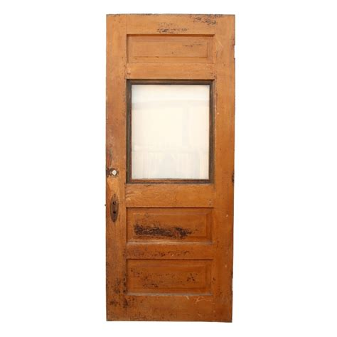 Antique Exterior Doors For Sale Antique Salvaged 34 Exterior Oak Door With Window Ned82 Rw For Sale Antiques Classifieds