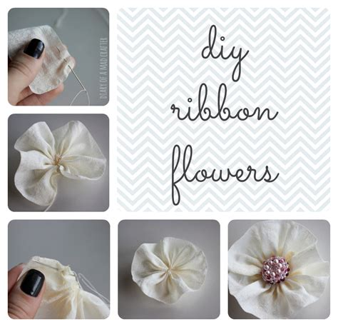 How To Make Paper Ribbon Flowers - diy ribbon flowers diary of a mad crafter