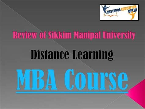 Smu Mba Review by Review Of Smu Distance Learning Mba Course Authorstream
