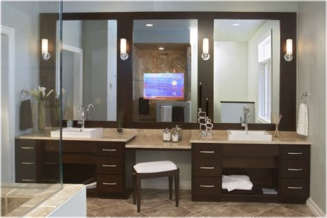 bathroom vanity with dressing table double vanities with dressing table in the bathroom