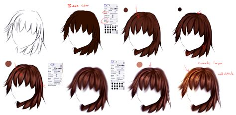 how to shade hair easy anime hair tutorial by ryky on deviantart