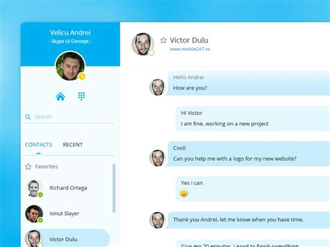 Find On Skype To Chat With Skype Chat Ui Small Redesign By Rtdevs Dribbble