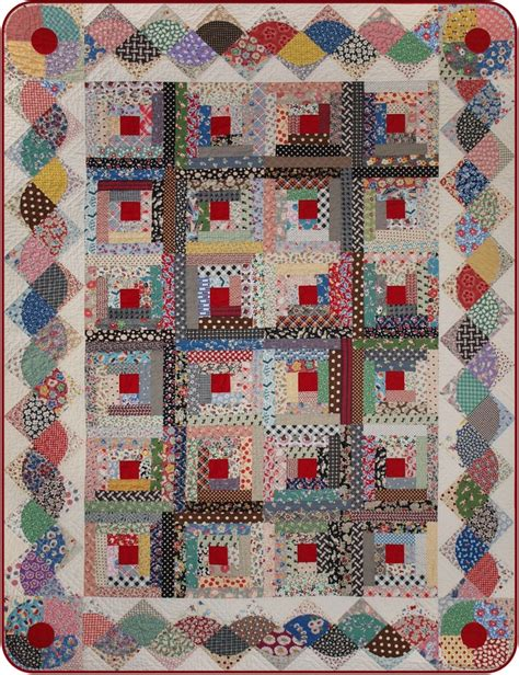 Border Quilting Patterns by Log Cabin Quilt With Interesting Border Quilt Borders