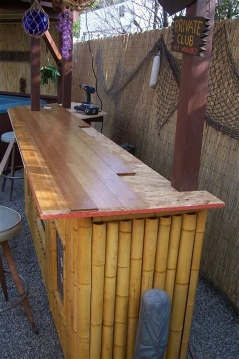 outdoor bar top ideas tiki bar top back yard deck outdoor summer stuff
