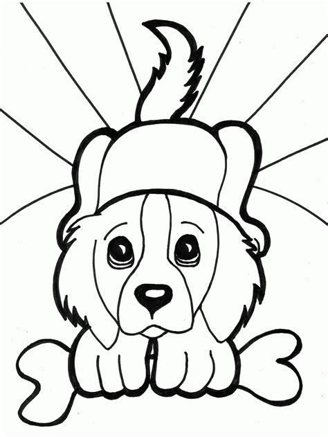 baby puppy coloring page caine planse de colorat si educative
