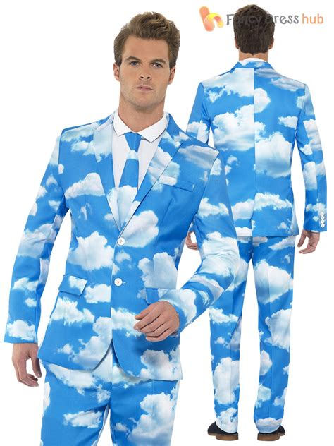 Adlt Out Of The Blue mens stand out suit stag do fancy dress comedy costume ebay