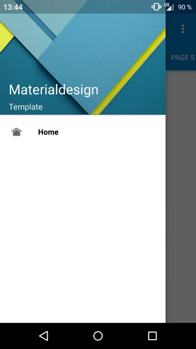 material design app xda template 4 4 material design template android