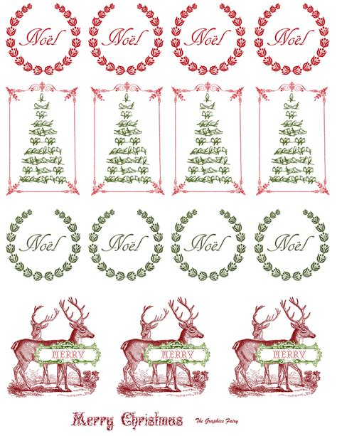 printable christmas decals printable vintage christmas stickers the graphics fairy