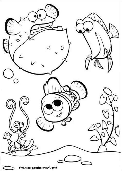 Disney Coloring Pages Finding Nemo by Finding Nemo Coloring Page And Disney Coloring Page
